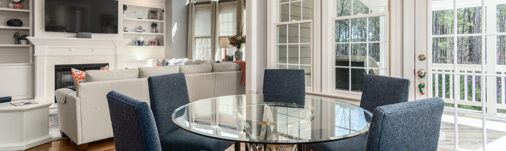 Information for buyers header image showing a nicely staged living and dining room.